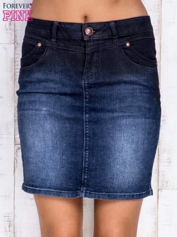 Czarna ołówkowa spódnica jeansowa