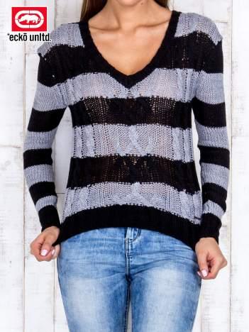 Czarny sweter w paski