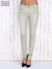 Beżowe proste spodnie skinny
