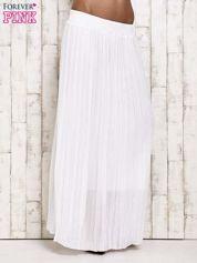 Biała spódnica maxi w plisy