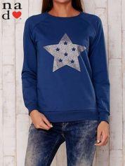 Ciemnoniebieska bluza z nadrukiem gwiazdy