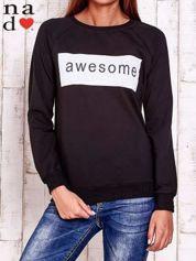 Czarna bluza z napisem AWESOME