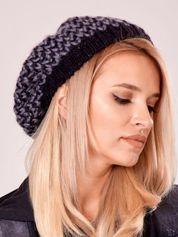 Czarna melanżowa czapka