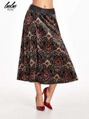 Czarna spódnica midi z nadrukiem ornamentowym