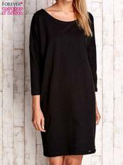 Czarna sukienka oversize