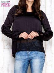 Czarna warstwowa bluzka oversize