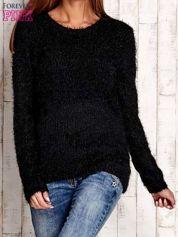Czarny sweter long hair z kokardkami