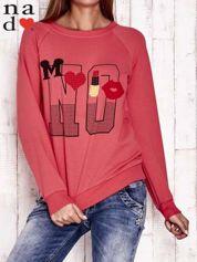 Czerwona bluza z napisem NO