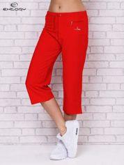 Czerwone spodnie sportowe capri