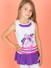 Fioletowa tunika dla dziewczynki z falbanką na dole MY LITTLE PONY