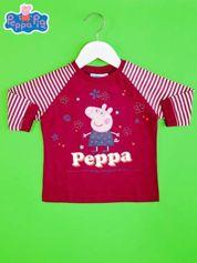 Fioletowy t-shirt dla dziewczynki ŚWINKA PEPPA