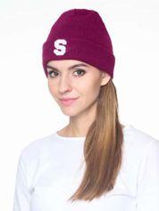 Forever Pink Fuksjowa czapka beanie z literą S