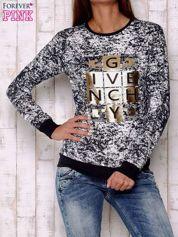 Granatowa bluza ze złotym motywem