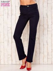 Granatowe proste spodnie