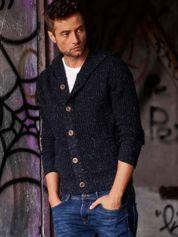 Granatowy sweter męski z kapturem FUNK N SOUL