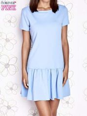 Jasnoniebieska dresowa sukienka z wycięciem na plecach