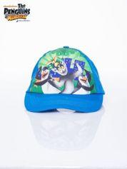 Niebieska chłopięca czapka z daszkiem PINGWINY Z MADAGASKARU