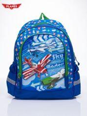 Niebieski plecak szkolny DISNEY Samoloty