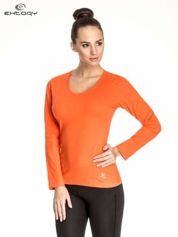 Pomarańczowa bluzka sportowa basic PLUS SIZE
