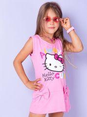 Różowa sukienka dla dziewczynki z kokardkami HELLO KITTY