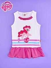 Różowa tunika dla dziewczynki z falbanką na dole MY LITTLE PONY