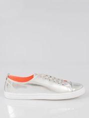 Srebrne metaliczne buty sportowe