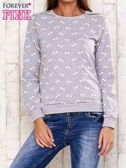Szara bluza z motywem kokardek
