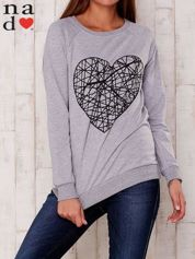 Szara bluza z nadrukiem serca