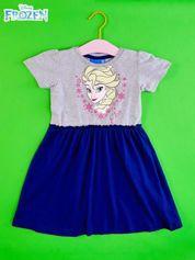Szara sukienka dla dziewczynki KRAINA LODU