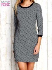 Szara sukienka z motywem plecionki