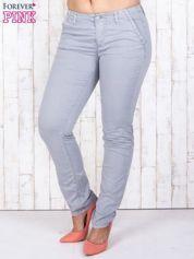 Szare materiałowe spodnie z przednimi kieszeniami PLUS SIZE