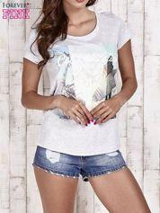 Szary t-shirt damski z napisem CALIFORNICATION