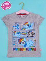 Szary t-shirt dla dziewczynki MY LITTLE PONY