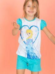 Turkusowa piżama dla dziewczynki KRAINA LODU
