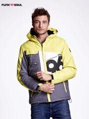 Żółta kurtka męska outdoorowa FUNK N SOUL