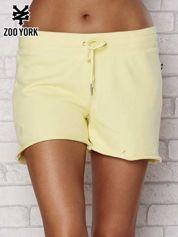 Żółte dresowe szorty z troczkiem