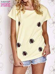 Żółty t-shirt z nadrukiem owadów