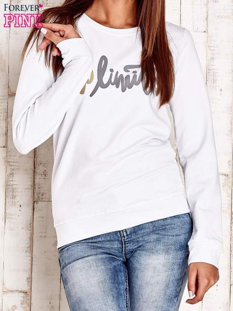 Biała bluza z napisem NO LIMITS