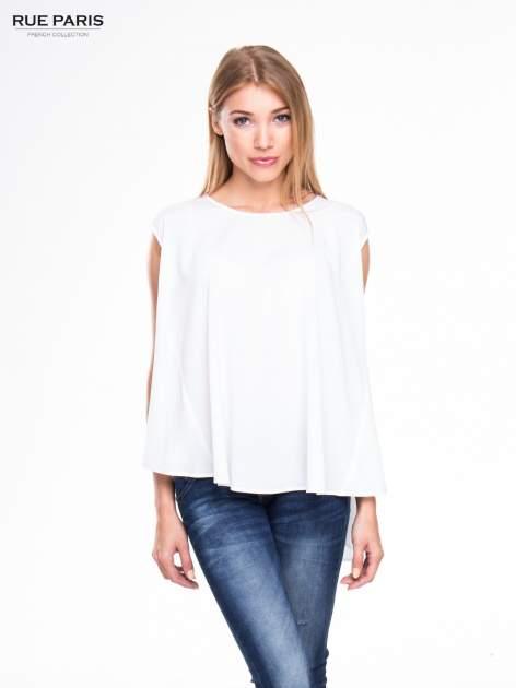 Biała koszula dzwonek z wydłużanym tyłem