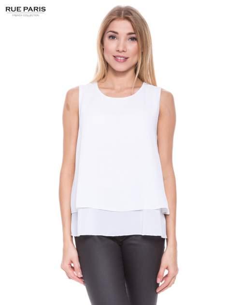Biała zwiewna koszula dwuwarstwowa