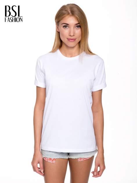 Biały t-shirt z nadrukiem numerycznym AZZEDINE 40 z tyłu