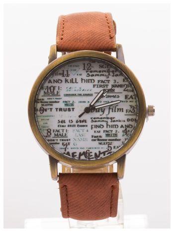 Brązowy zegarek damski na skórzanym pasku
