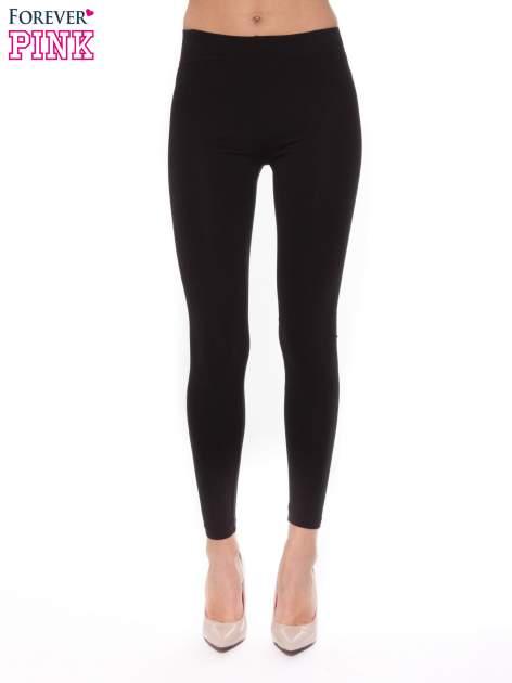 Czarne legginsy z bawełny