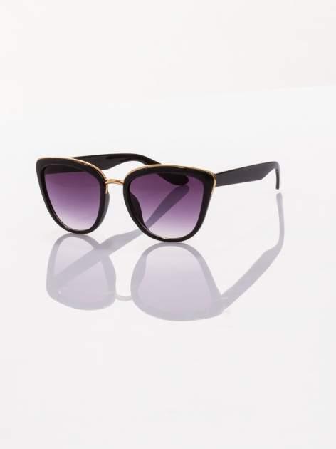 """Czarne okulary przeciwsłoneczne w stylu """"kocie oczy"""""""