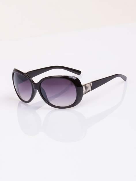 Czarne stylowe okulary  MUCHYz dymionymi soczewkami