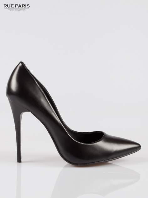 Czarne szpilki high heels z noskiem w szpic