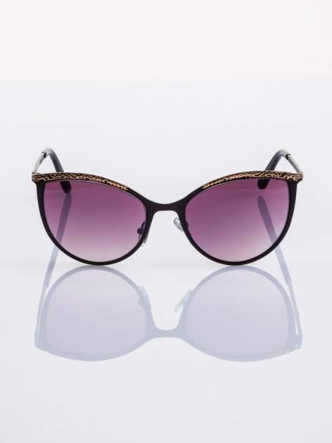 """Czarno-złote okulary przeciwsłoneczne w stylu """"KOCIE OCZY"""""""