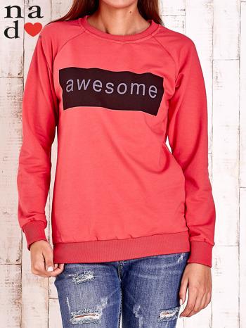Czerwona bluza z napisem AWESOME