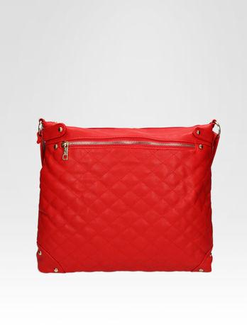 Czerwona pikowana torebka na ramię