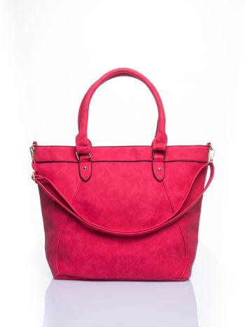 Czerwona torba city bag na ramię